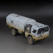 лучшая цена 1/35 Revell 35081 United Nations Medical Rescue Vehicle MAN Off-road Military Truck Model Bulding Toy For Over 14+ Age