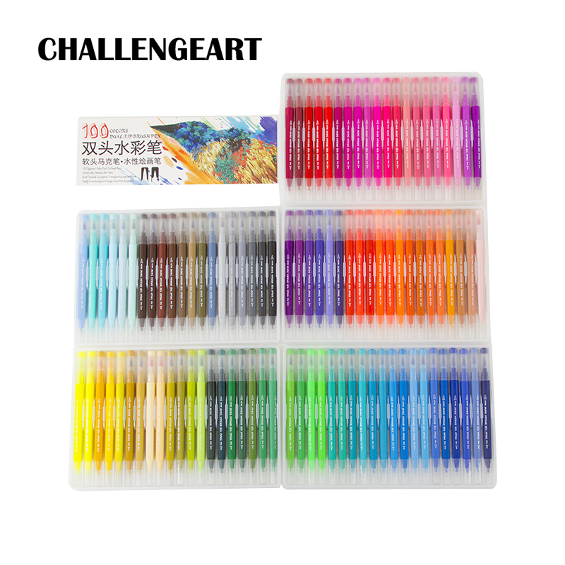 Watercolor Brush Markers Lettering/Fineliner/Calligraphy/Brush Pen Sketching Drawing Art Supplies12/24/36/48/60/72/100 Colors