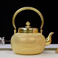 Handmade gold pot, sterling silver kettle, sterling silver kettle 1.3 liters, sterling silver kettle