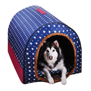 Image 4 - Warm Dog House Print Stars Soft Foldable Pet dogs bed For Puppy large medium Travelling Portable Kennel Mat Cat bed Pet Supplies