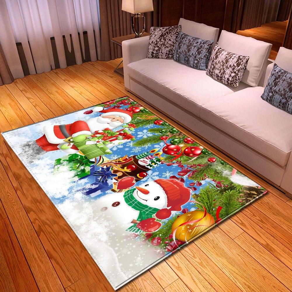 Christmas Carpet For Living Room Home Decoration Large Rug Kids Room 3D Pattern Children Carpet Bedroom Bedside Mats