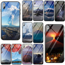 Wonders Nature Volcano For iPhone 5 5S SE X XR XS 11 Pro Max 10 8 7 Plus 6 6S Plus Shell Bags Tempered Glass Phone Cases(China)