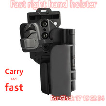 Tactical Level 3 Carry Quick Right Hand Holster For Glock 17 19 22 34 Holsters