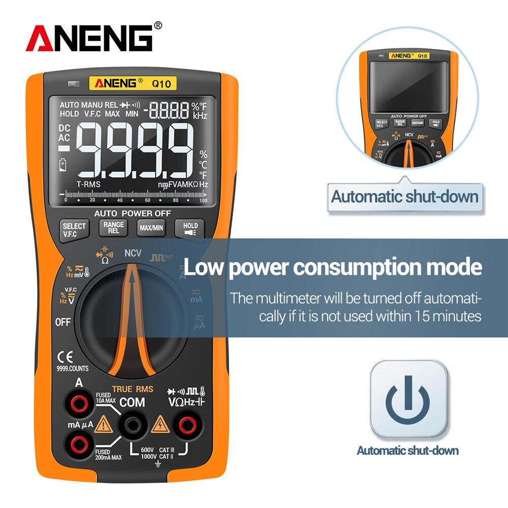 Analog Q10 Transistor ANENG Digital Tester 9999 True DIY Multimeter Testers Lcr NCV RMS Professional Multimetro Meter Capacitor