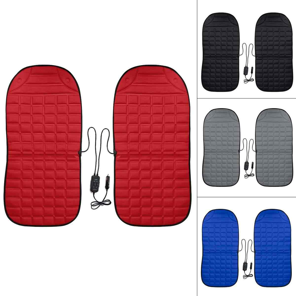2Pcs Dalam 1 Cepat Panas & Adjustable Hitam/Abu-abu/Biru/Merah Mobil Listrik Kursi Mobil gaya Musim Dingin Pad Bantal Auto Mencakup