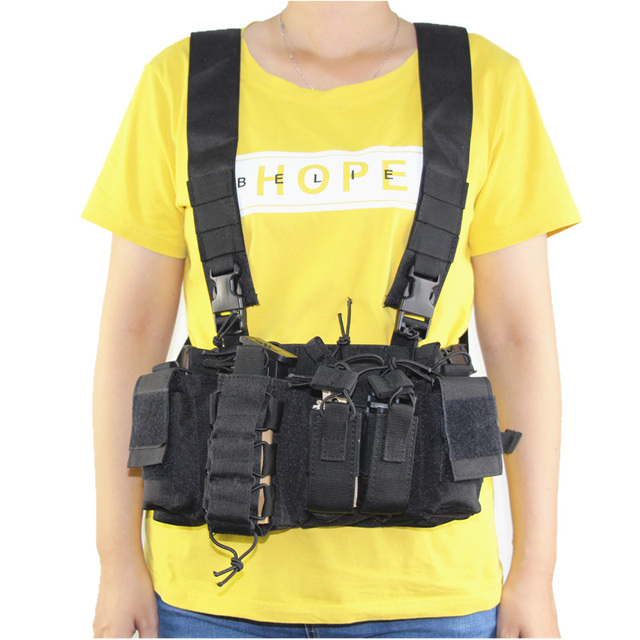 Military equipment tactical Vest Airsoft Paintball Carrier Strike chaleco chest rig Pack Pouch Light Weight Heavy Duty vest 3