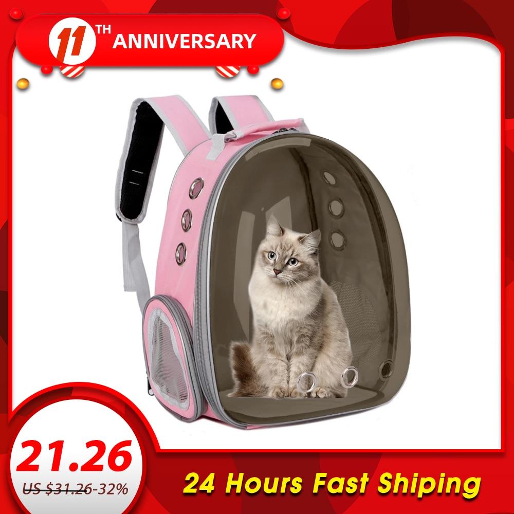 Breathable Pet Carrier Bag Gatos Dog Cat Bag Basket Portable Outdoor Travel Cat Backpack Carrying Cage Pet Supplies Mascotas