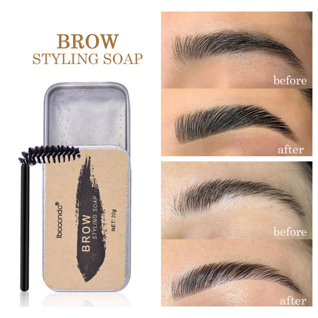3D Feathery Brow Makeup Balm Styling Brows Soap Kit Long Lasting Eyebrow Setting Gel Waterproof Eyebrow Enhancer Cosmetics
