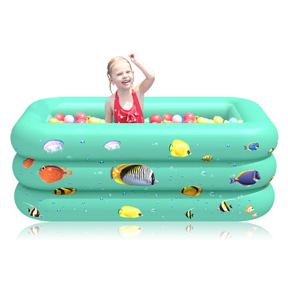 Children Multi-layer Bathing Tub Baby Home Paddling Pool Inflatable Summer Swimming Pool Kids Inflatable Pool Ocean Ball