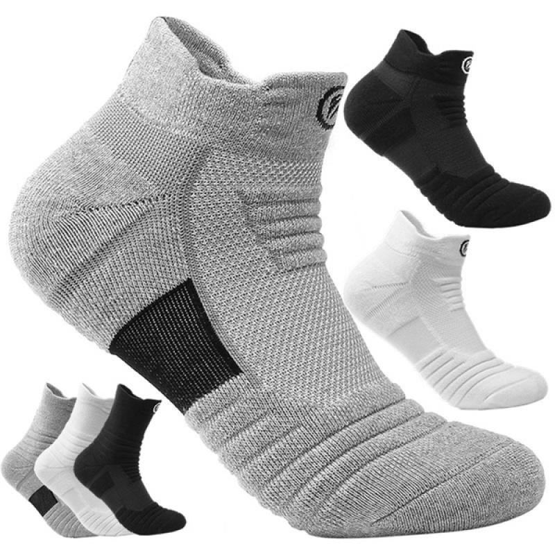 1Pair Running Stockings Men Short Socks thick Sweat Sweat Absorbent Outdoor Sports Walking Stockings Basketball Stockings