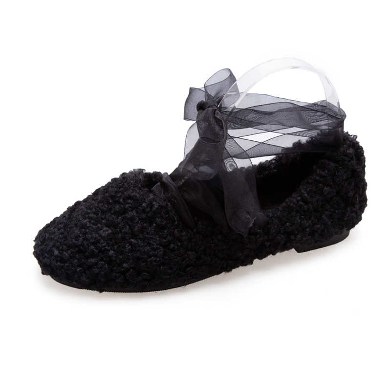 Повседневная женская обувь на платформе; модельные туфли на плоской подошве; женские универсальные Мокасины с круглым носком; сезон осень; лоферы с закрытым носком на меху