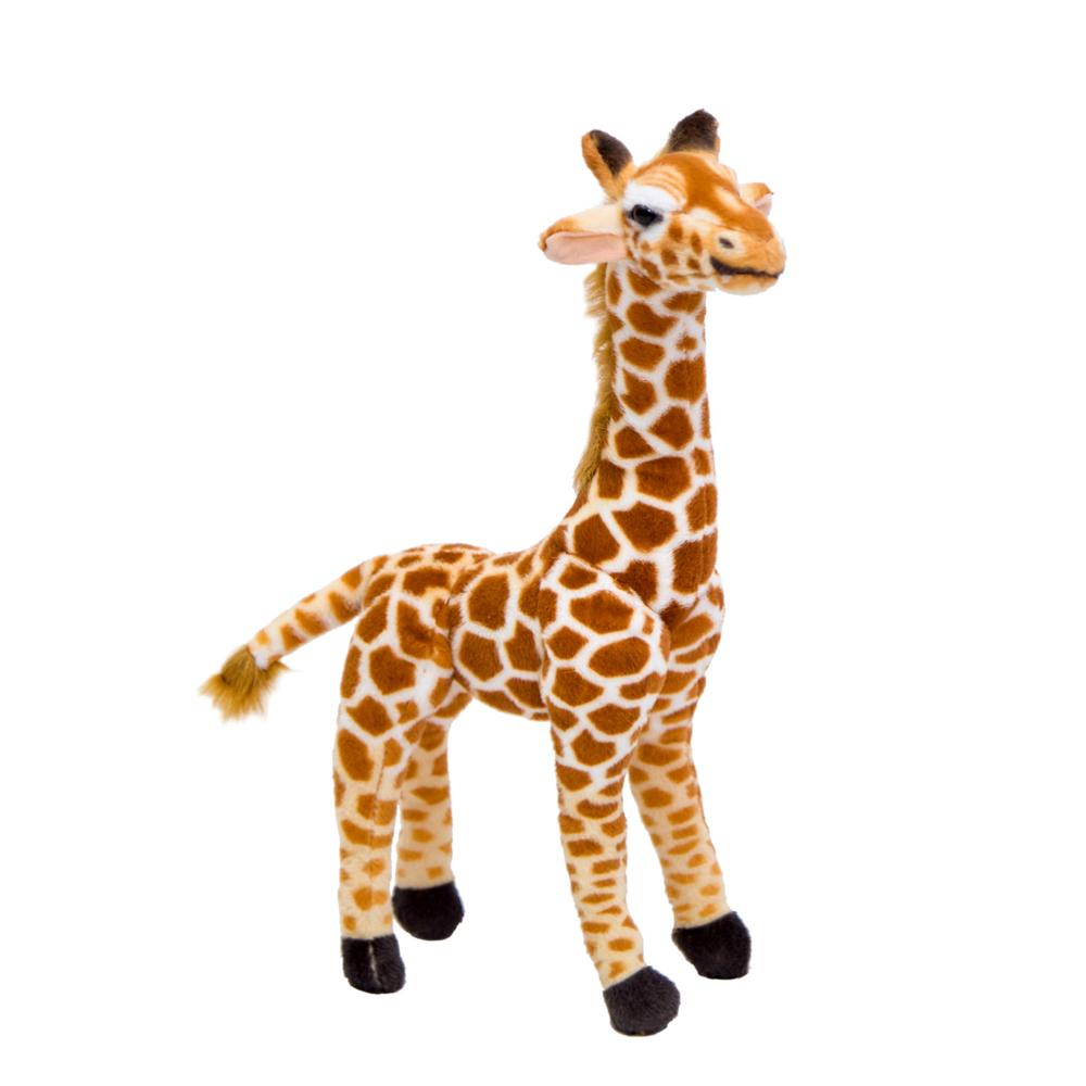 36-55cm Huggable Cute Real Life Giraffe Plush Toys for Children Simulation Deer Animal Stuffed Doll Kid Birthday Gift Room Decor