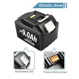 Image 5 - Bonacell 18V 9000mAh BL1830 Lithium Battery Pack Replacement for Makita Drill LXT400 194205 3 194309 1 BL1815 BL1840 BL1850 L30