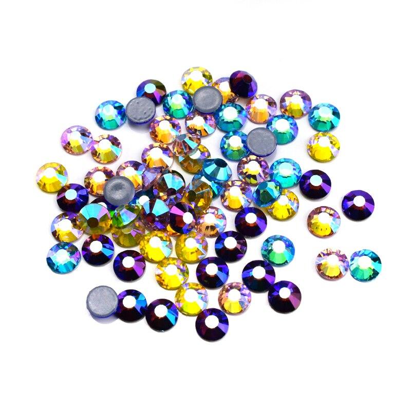 Todas as cores hotfix strass ab ferro em strass alta qualidade quente fix strass cristal ab diy acessórios de roupas