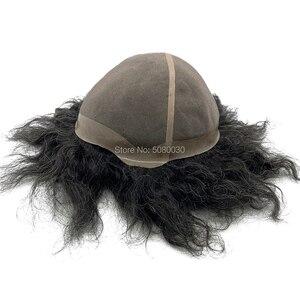 Image 2 - Parrucca di capelli maschile su misura big cap toupee dei capelli umani mono merletto di base delle donne parrucca