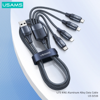 USAMS 3 In 1 USB Micro Cable Type C Fast Charge Cable for Huawei Samsung Xiaomi 4 In 1 Cable for iPhone 13 12 X 11 Lightning Fast Charging