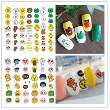 Kawaii 17 Styles Cute Cartoon Acrylic Powder Poly Gel Nail Polish Nail Art Decorations Crystal Manicure Set Kit Nail Accesorios(China)