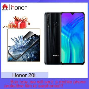 Перейти на Алиэкспресс и купить Honor 20i 32MP AI Selfie Ультра широкоугольный 4 Гб + 128 ГБ полный экран AI Blacklighting 24MP AI тройной объектив задняя камера
