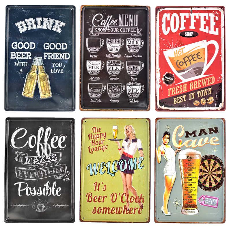 Cafés Chocolats Voisin Tin Sign Shield 3D Embossed Arched Tin Sign 20 X 30 CM
