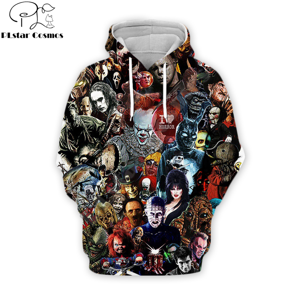 Horror Character Gothic Halloween Vintage Fashion Hoodies Stephen King's It 3D Print Harajuku Tracksuit Casual Hoody Sweatshirt