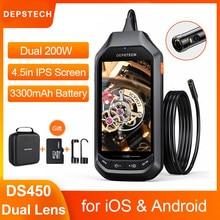DS450 1080P Dual Objektiv Endoskop Kamera mit 4,3