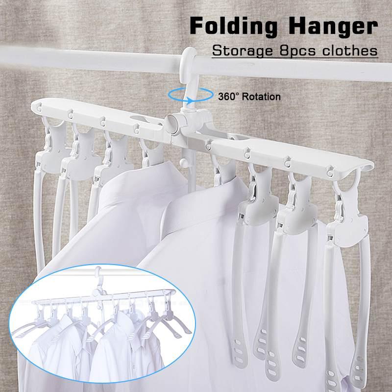 Multifunctional Magic Hanger Racks Foldable Household Smart Storage Artifact Clothes Drying Rack Multi-layer Clothing Folding
