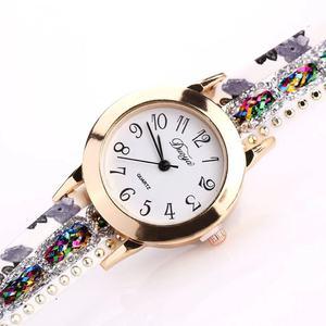 Image 4 - Foloy נשים שעון מגורר אופנה קוורץ צבעוני פרח שעוני יד צמיד נקבה שעונים