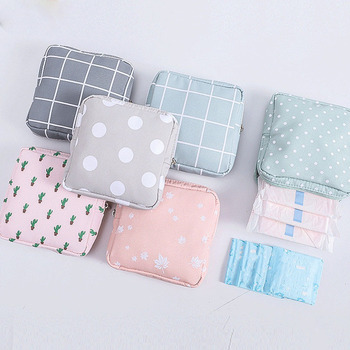 Korean Style Women's Small Cosmetic Bags Travel Mini Sanitary Napkins Make Up Coin Money Card Lipstick Storage Pouch Purse - discount item  30% OFF Special Purpose Bags