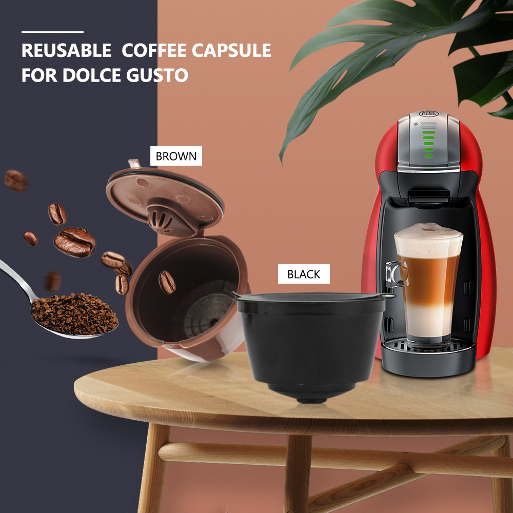 3rd Generation Dolce Gusto Coffee Capsule Filters Cup Refillable Reusable Dolci Coffee Dripper Filter Tea Baskets(China)