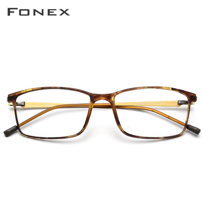 FONEX TR90 alliage lunettes de Prescription hommes myopie oeil verre lunettes cadre 2019 coréen sans vis optique montures lunettes 9855 - 2