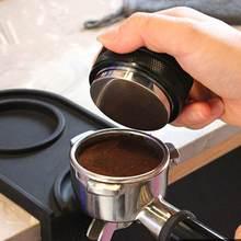 Prensa de café de acero inoxidable de doble cara, 3 pendientes en ángulo y Base plana, herramientas de cocina, 53mm