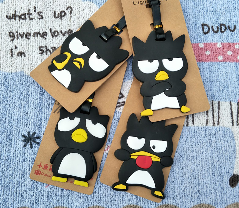 1pcs Cute Penguin Anime Travel Brand Luggage Tag Suitcase ID Address Portable Tags Holder Baggage Label New