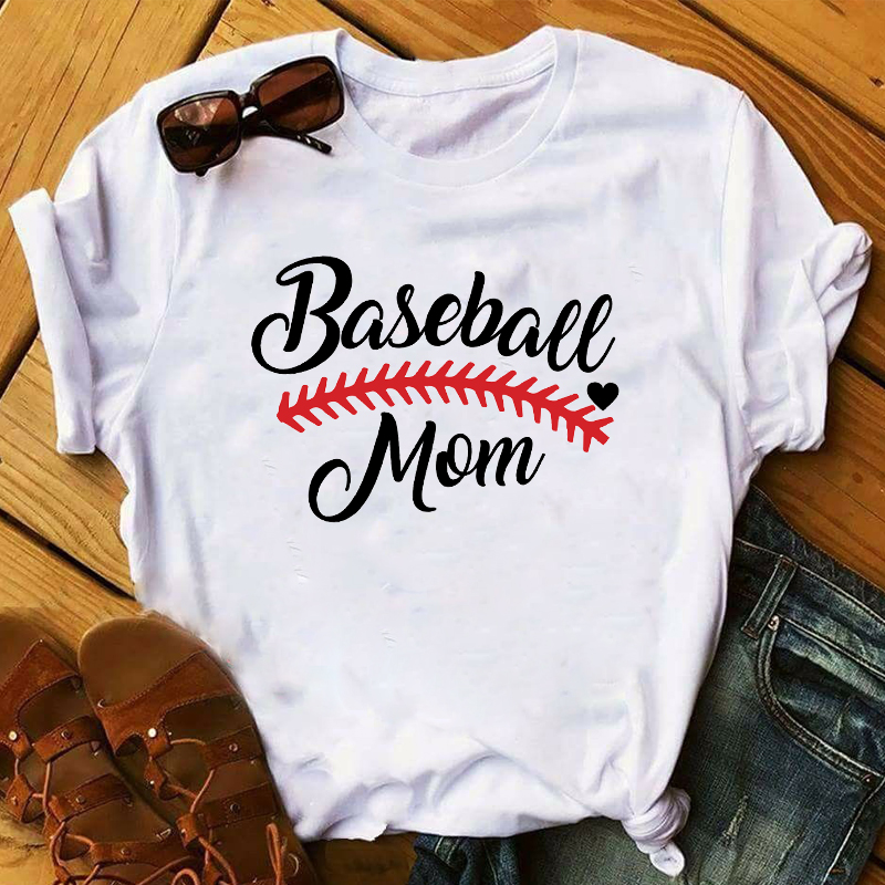 Women 2020 Floral Baseball Mom Clothes Game Day Womens Top Clothing Lady T Shirt T-shirts Ladies Graphic Female Tee T-Shirt