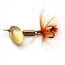1 шт вращающийся вращающаяся блесна рыболовная приманка с металлической