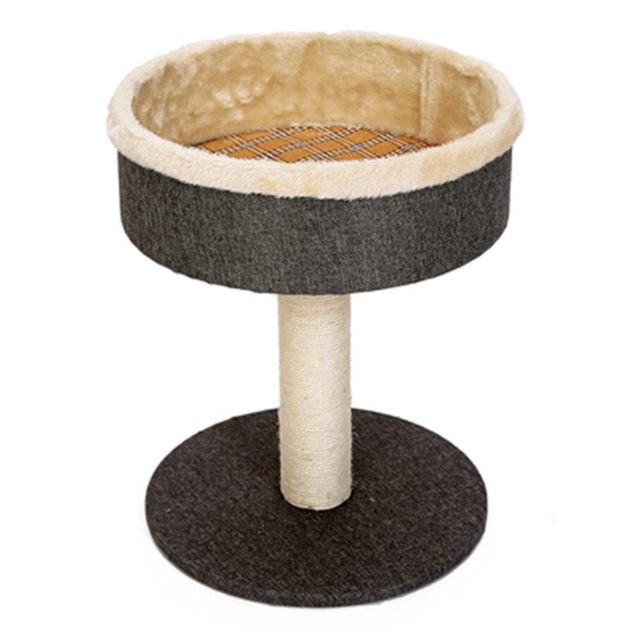 Chat Scratcher arbre jouet bois tour maison Condo meubles saut tapis de paille drôle Sisal corde Amusement Gatos chat trucs jouer 20WG52