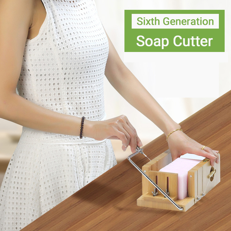 Adjustbale Wooden Soap Cutter Wire Slicer DIY Homemade Soap Making Tool Bar Soap Loaf Cutter Kit With Beveler Planer And Repair
