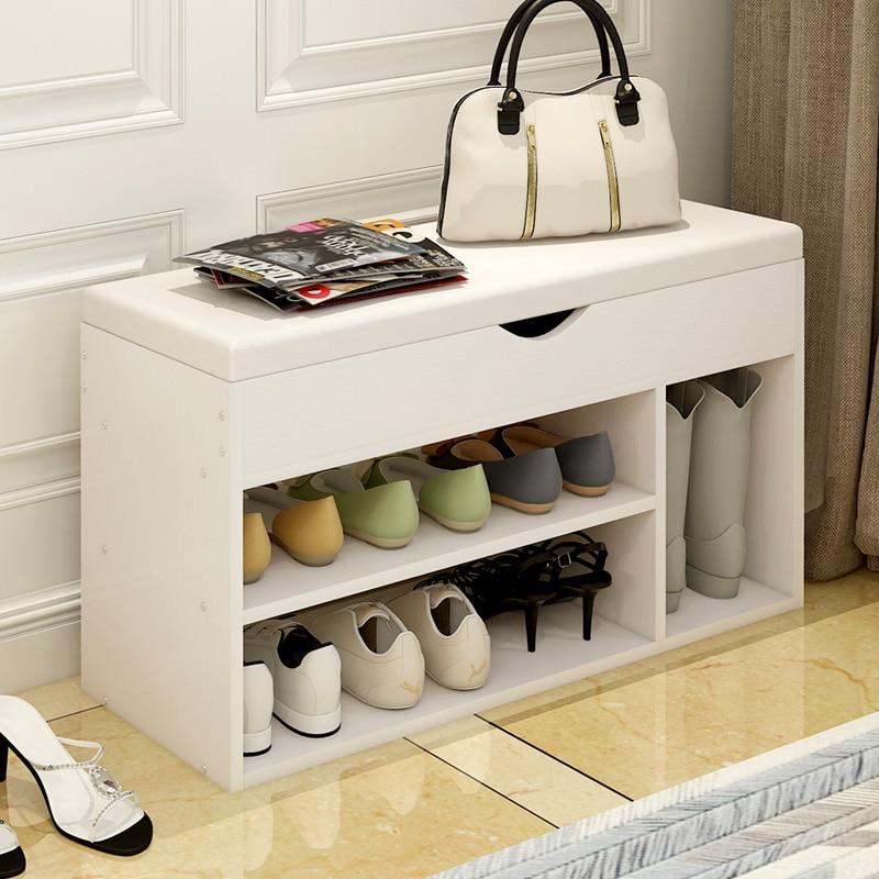 Stool Type Shoe Cabinet Sofa Stool Sitting Room Soft Bag Storage Cabinet Shoe Rack Into The Door Wearing Shoe Stool