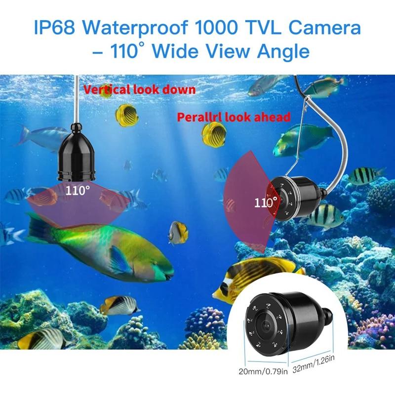 monitor de pesca kit câmera de vídeo para gelo lago mar finshing e