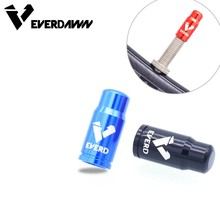 EVERDAWN Bike Tire Valve Cap Aluminum CNC Bicycle Presta Protector Dust 2 Piece