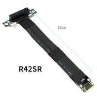 Cable de extensión R42SF/R42SL/R42SR PICE x4 3,0 PCI Express 4x a m2 NVMe M Key 2280 tarjeta elevadora Gen3.0 línea extensora 32G/bps