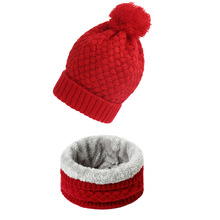 2019 New Winter Knitted Hats Scarves Men Cap Beanie Thick Neck Warm Bonnet Skullies Beanies For Women hat