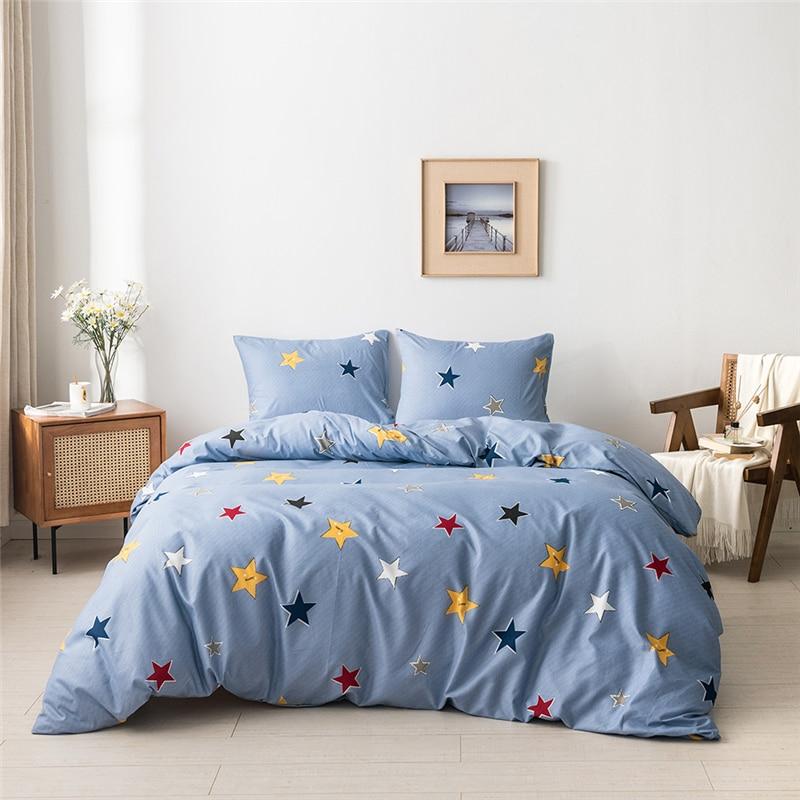 Parure Duvet Set Bedding Set Bed Set Boho Bed Sheets Bed Cover Sets Duvet Cover Queen Dovet Cover Pillowcase Flat Sheet 1 Pcs