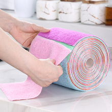 Bamboo Fabric Kitchen Dishes Towel Dishcloth Microfiber Wipes Home Cleaning Household Magic Cloth Washing Fat Rags Scouring Pad