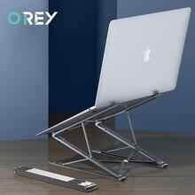Soporte ajustable de aluminio para ordenador portátil, Base de mesa para Macbook, PC, iPad, Notebook, almohadilla de refrigeración