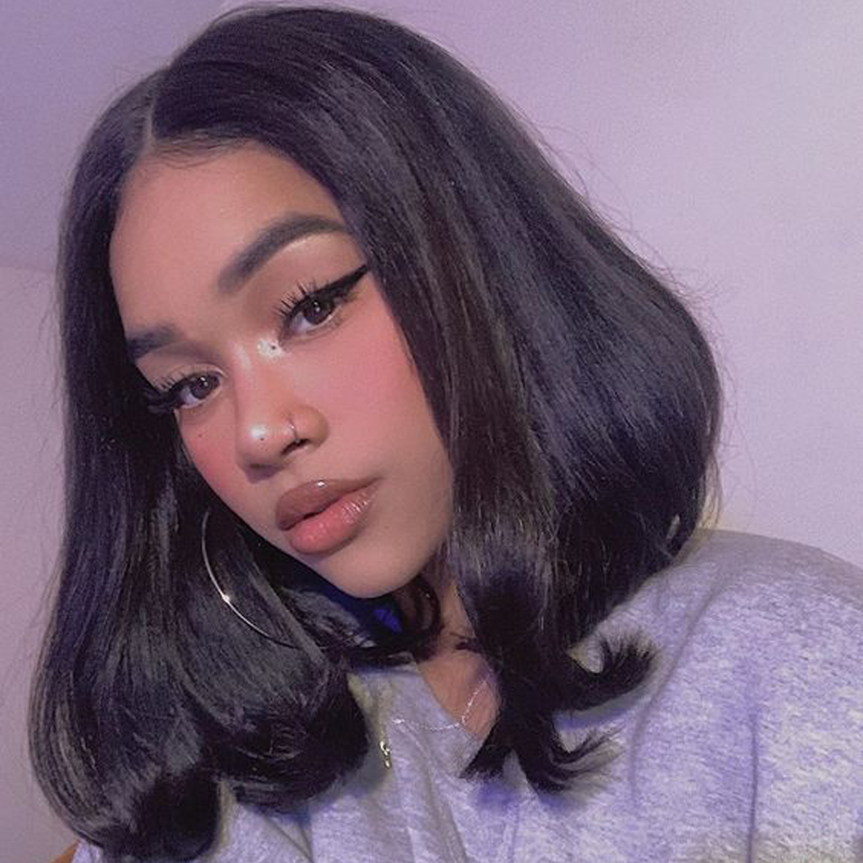 13x4 Bob Lace Front Wigs Short Bob Wig 8-14Inch with Bangs Lace Front  Wigs Pre Plucked 4x4 Lace Closure Bob Wigs 3
