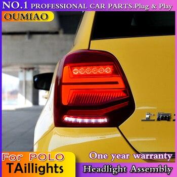 OUMIAO Car Styling For vw POLO achterlichten 2006 2007-2016 For VW golf MK6 led achterlichten, DRL + Rem + Park + Dynamische ri
