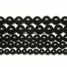 Genuíno semi-precioso natural rússia shungite pedra redonda solta contas 6 8 10 mm escolher tamanho jóias fazendo
