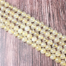Hot Sale Natural Stone Blond Hair Beads 15.5 Pick Size: 4 6 8 10 mm fit Diy Charms Beads Jewelry Making Accessories