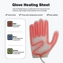 Five-finger Glove Heating Sheet Composite Fiber PTC 3 Adjustable Heating Levels Electric Heating Pads for Winter USB Electric