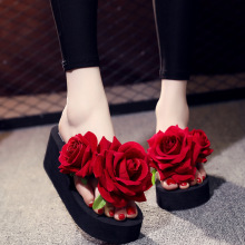 Beach Shoes Female Slippers Seaside Holiday Slip Flat Flip Flop Sandals Summer New Fashion Outside Flowers таймер raco 4275 55 736 z01